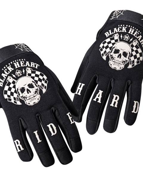 Moto rukavice  Black Heart Restarter čierna - S