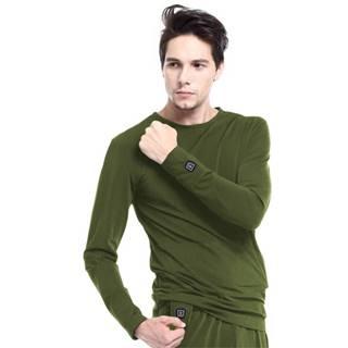 Vyhrievané tričko s dlhým rukávom Glovii GJ1C zelená - M