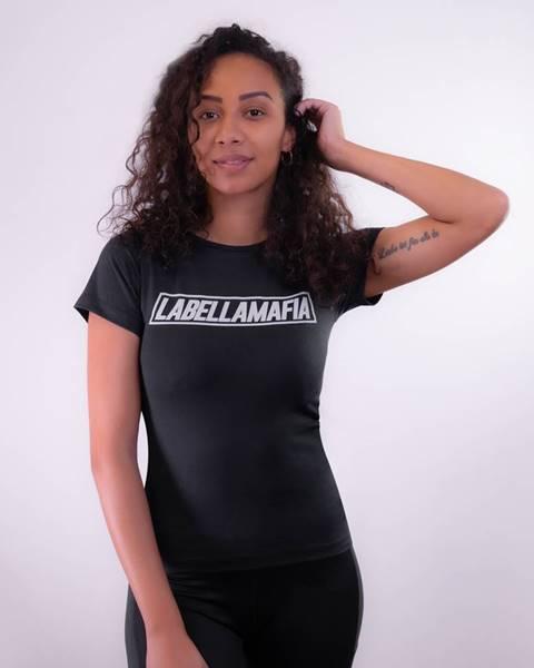LABELLAMAFIA Dámske tričko Mesh Black  S