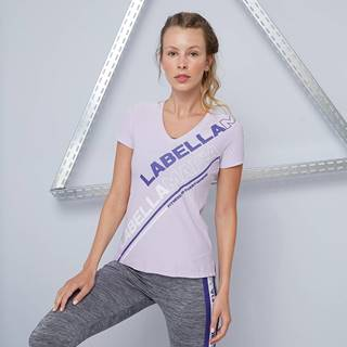 Dámske tričko Color Block Purple  S