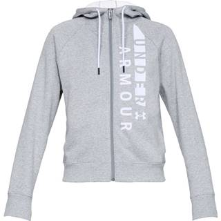 Dámska mikina Under Armour Cotton Fleece WM FZ Steel Light Heather / White / White - S