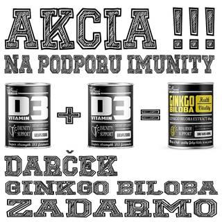 2+1 Zadarmo: Vitamín D3 + Ginkgo Biloba Zadarmo -  60 kaps. + 60 kaps. + 100 tbl.
