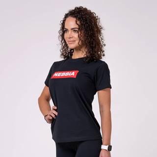 NEBBIA Dámske tričko Basic Black  S