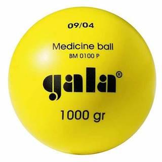 Míč medicinbal  plastový 1 kg žlutý