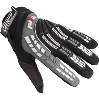 Detské motokrosové rukavice  čierno-šedá - 3