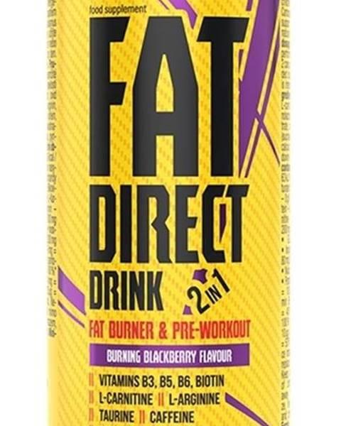 Fat Direct Drink (spaľovač plus pumpa) -  250 ml. Blackberry