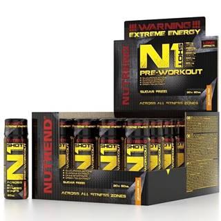 N1 Pre-Workout Shot -  20 x 60 ml. Orange