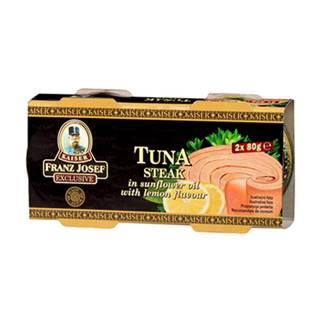 Tuniak steak v slnečnicovom oleji s citrónom 2x80 g