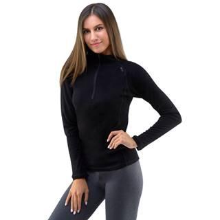 Dámske tričko s dlhým rukávom Merino  čierna - S