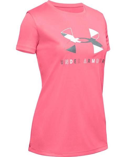 Dievčenské tričko  Tech Graphic Big Logo SS T-Shirt Eclectic Pink - YM