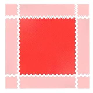 Puzzle záťažová podložka  Simple červená