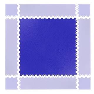 Puzzle záťažová podložka  Simple modrá