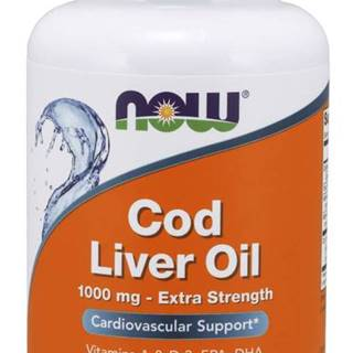 NOW Cod Liver Oil olej z tresčích jater 1000 mg 90 softgel kapsúl 90 kaps.