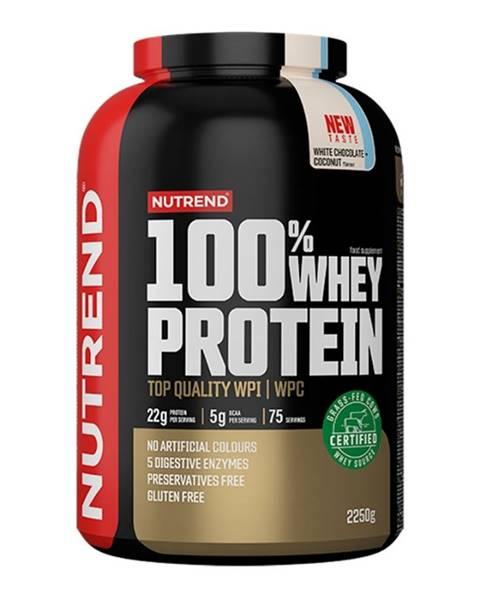 Nutrend 100% Whey Protein 2250 g banán jahoda