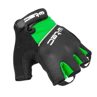Cyklo rukavice  Bravoj zeleno-čierna - S
