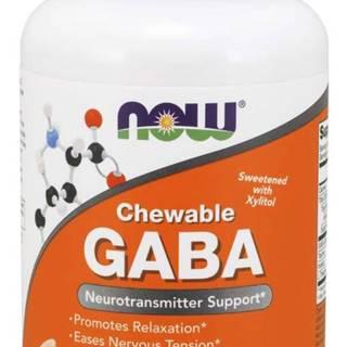 NOW GABA 500 mg + Taurin, Inositol a L-Theanin, 90 žuvacích tabliet 90 tab.