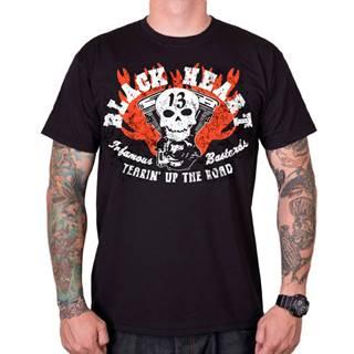 Tričko BLACK HEART Flathead Skull čierna - M