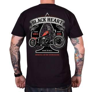 Tričko BLACK HEART Orange Chopper čierna - M