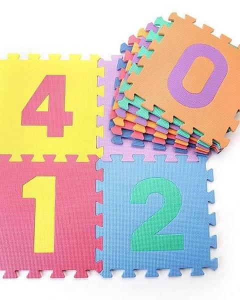 Dětská hrací podložka s čísly  30x30x1,0 cm - 10ks