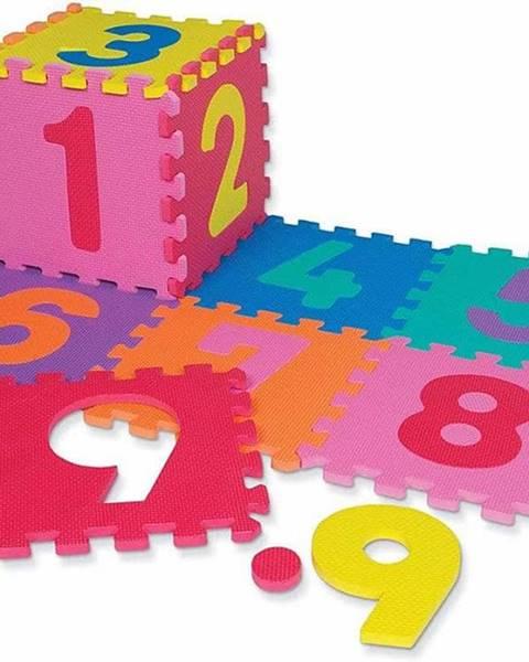 Dětská hrací podložka s čísly  30x30x1,2 cm - 12ks