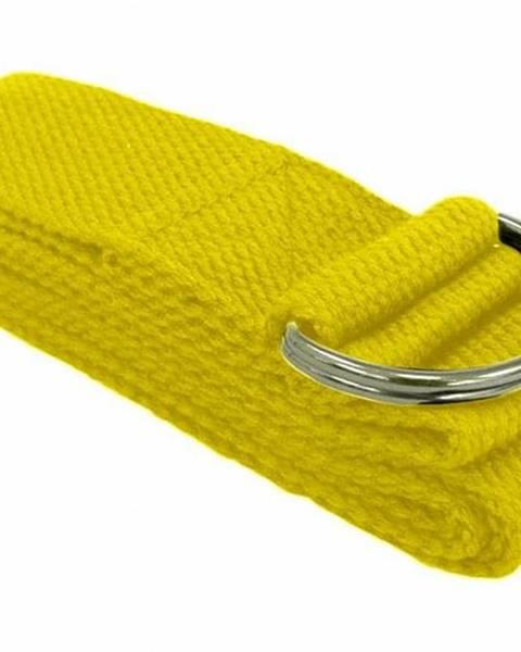 Pásek/Popruh na Jógu - YOGA STRAP 180 cm - Žlutá