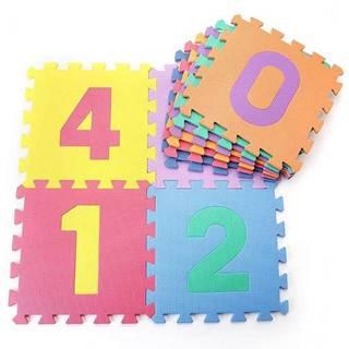 Dětská hrací podložka s čísly  30x30x1,2 cm - 10ks