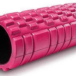 Masážní VÁLEC YOGA FOAM ROLLER  33x14 cm - Růžová