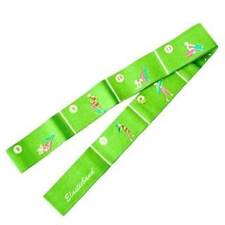Aerobic guma ELASTIC BAND 1800 - Zelená - Snadná