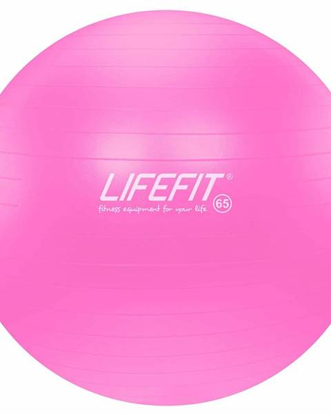 Gymnastický míč LIFEFIT ANTI-BURST 65 cm, růžový