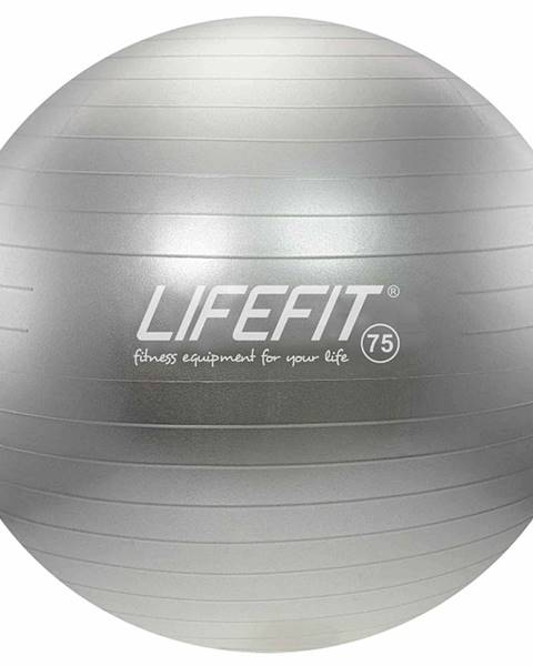 Gymnastický míč LIFEFIT ANTI-BURST 75 cm, stříbrný