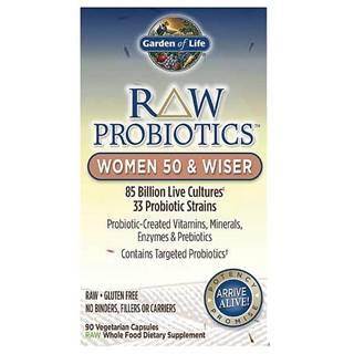 Garden of Life RAW Probiotika pro ženy po 50+ - 85miliard CFU 90 kapslí