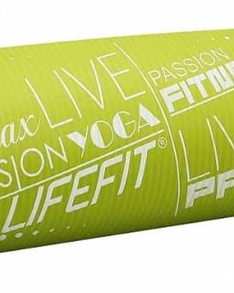Podložka LIFEFIT YOGA MAT EXKLUZIV PLUS, 180x58x1,5cm, světle zelená