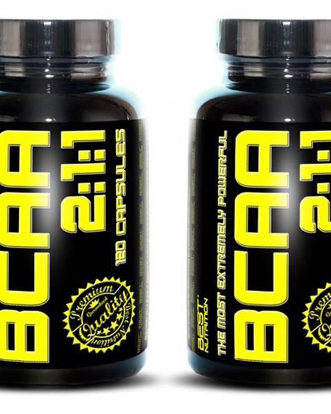 1+1 Zadarmo: BCAA 2:1:1 od Best Nutrition 120 kaps. +  120 kaps.