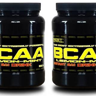 1+1 Zadarmo: BCAA Instant Drink od Best Nutrition 300 g + 300 g Citrón+Mint
