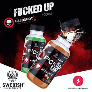 Fucked Up Headshot - Swedish Supplements 12 x 100 ml. Green Apple
