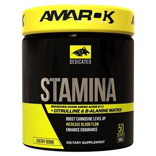 Dedicated Stamina + BCAA - Amarok Nutrition  500 g Cherry Bomb