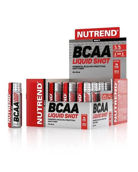 Aminokyseliny Nutrend BCAA Liquid Shot 20 x 60 ml
