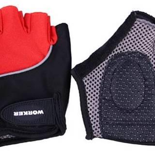 Cyklo a fitness rukavice WORKER  S900 Farba červená, Veľkosť XL