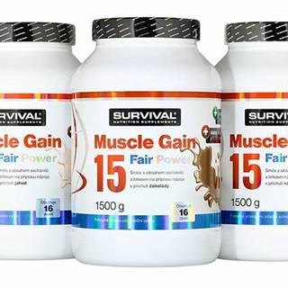 Muscle Gain 15 Fair Power 1500 g 1500g Čokoláda