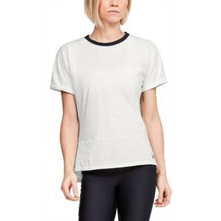 Dámske tričko Under Armour Charged Cotton SS Onyx White - XS