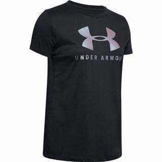 Dámske tričko Under Armour Graphic Sportstyle Classic Crew Black-Chrome - S